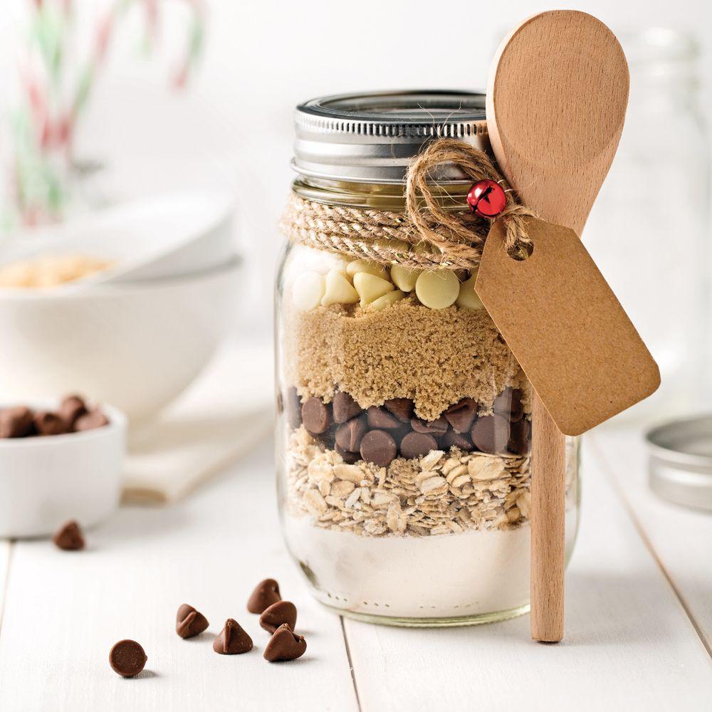 image d'un bocal de préparation sèche pour faire des cookies